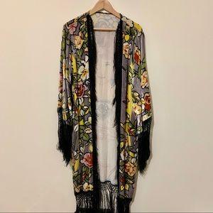 Tops - Art Nouveau Velour Kimono